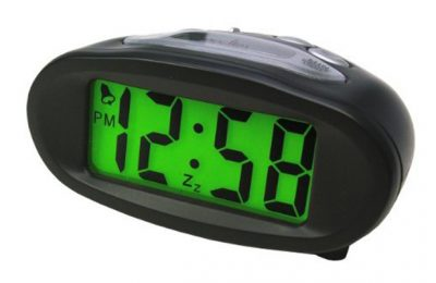 Acctim 14193 Eclipse Solar Dual Power Alarm Clock
