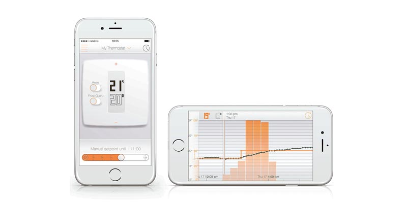 Netamo Thermostat for Smartphone with Installation